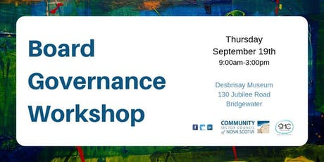 Board Governance Workshop - SOUTH SHORE - Bridgewater tickets