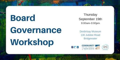 Board Governance Workshop - SOUTH SHORE - Bridgewater