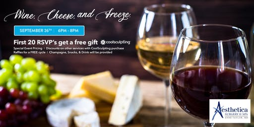 Wine, Cheese, & Freeze with Aesthetica Surgery & Spa!