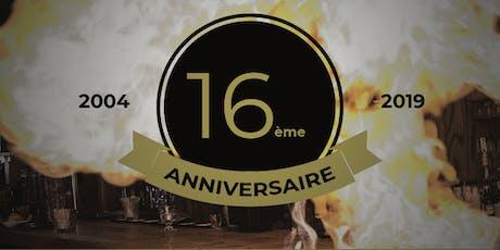 16 ans de L'Assommoir  26 et 27 septembre| 5 à 7 festif billets