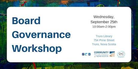 Board Governance Workshop - NORTHERN - Truro tickets