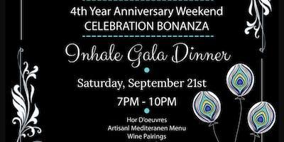 Inhale Gala Dinner - Inhale's 4 Year Celebration Bonanza