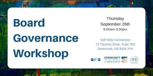 Board Governance Workshop - CENTRAL - Dartmouth