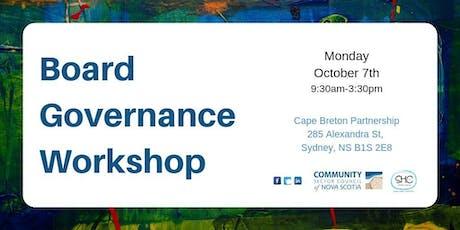 Board Governance Workshop - CAPE BRETON - Sydney tickets