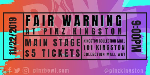 Fair Warning at PiNZ LIVE