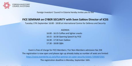 FICE Seminar on Cyber Security tickets