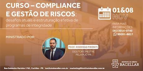 Curso: Compliance e Gestão de Riscos ingressos