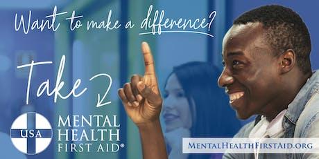 Mental Health First Aid November 2019 tickets