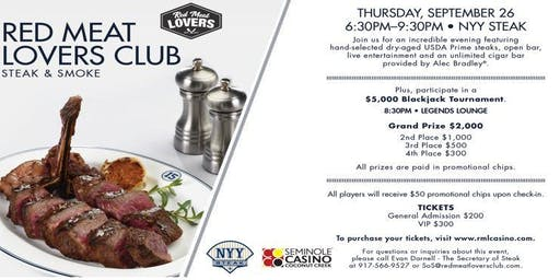 Red Meat Lover's Club Presents NYY Steak & Smoke
