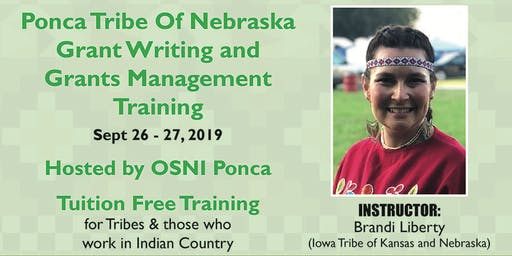 Grants Writing & Grant Management PEDCO/Northern Ponca Housing Authority Sept 26-27