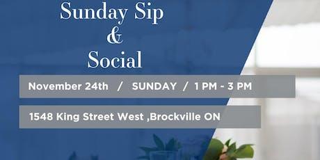 Sunday Festive Sip & Social  tickets