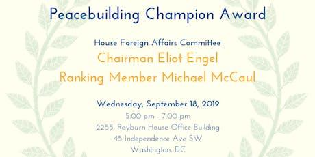 Peacebuilding Champion Award Reception tickets