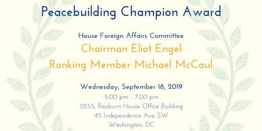 Peacebuilding Champion Award Reception