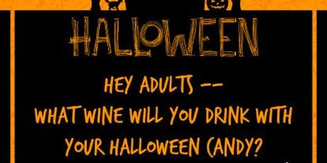 Wine Glass Painting WITH Wine Tasting & Halloween Candy Pairing Class tickets