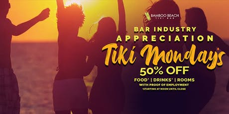 Bar Industry Appreciation at 50% OFF on Drinks, Food and Rooms tickets