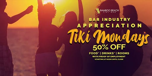 Bar Industry Appreciation at 50% OFF on Drinks, Food and Rooms