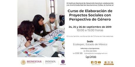 Curso de Elaboración de Proyectos Sociales con Perspectiva de Género  boletos