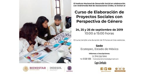 Curso de Elaboración de Proyectos Sociales con Perspectiva de Género