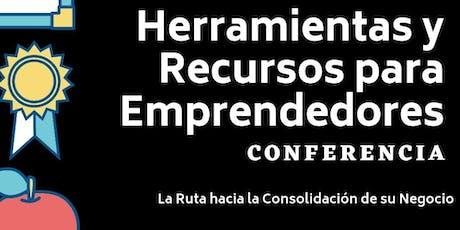 Conferencia Herramientas y Recursos para Emprendedores entradas