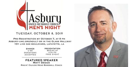 Asbury UMC Men's Night Oct 2019 tickets