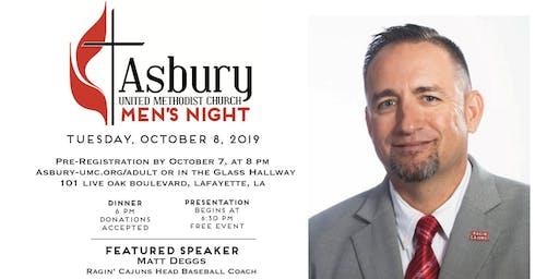 Asbury UMC Men's Night Oct 2019