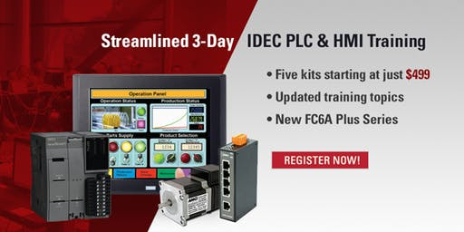 3 Day PLC & HMI Training | Tempe, AZ - December 10-12, 2019
