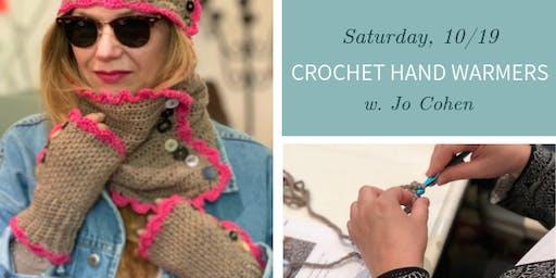 Crochet Hand Warmers w. Jo Cohen - Sat., 10/19