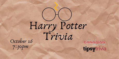 Harry Potter Movie Trivia - Oct 16, 7:30 - CBH YXE tickets