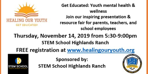 Youth Mental Health Educational Event November 14, 2019