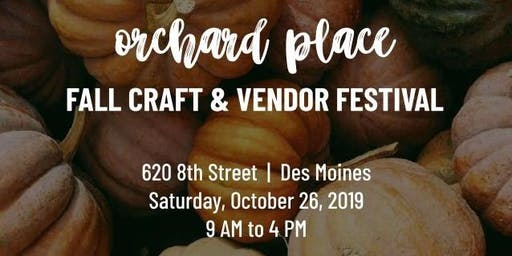 Orchard Place Fall Craft & Vendor Festival 2019