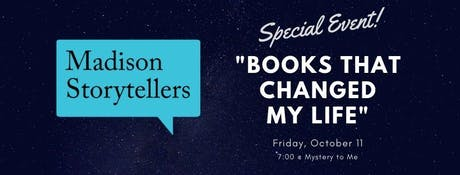 Madison Storytellers @ Mystery to Me: Books That Changed My Life tickets