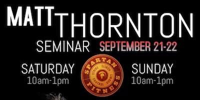 Matt Thornton Seminar