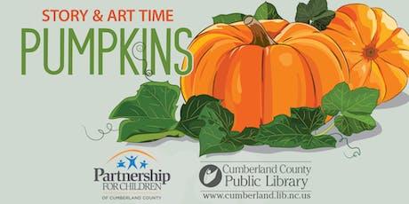 Pumpkin themed Story & Art Time tickets