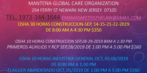 Osha 30 New Jersey (Pagar En Persona Pay In Person)