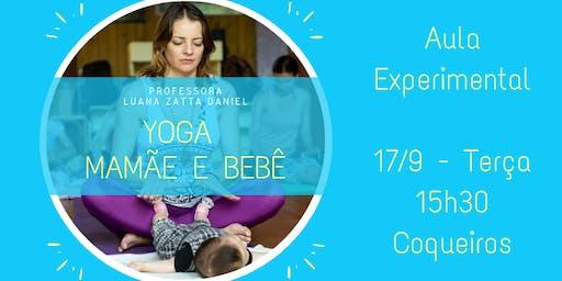 Yoga Mamãe Bebê - Aula Experimental - 17/09