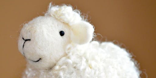 Sheep Needle Felting Workshop for Beginners