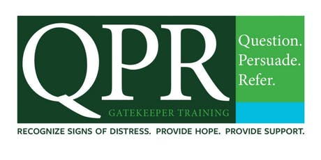 QPR Suicide Prevention and Intervention Training tickets