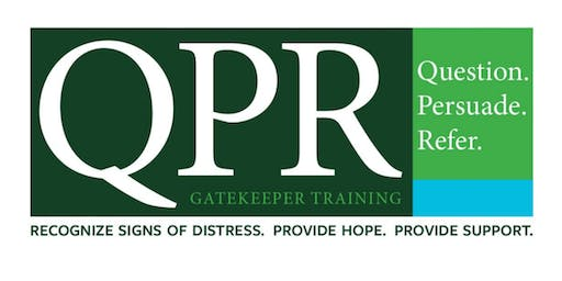 QPR Suicide Prevention and Intervention Training