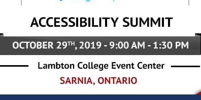 2019 City of Sarnia Accessibility Summit