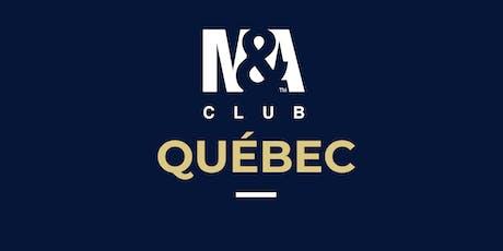 M&A Club Québec : Réunion du 23 octobre 2019 / Meeting October 23, 2019 billets