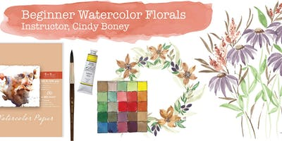 Beginner Watercolor Florals - Instructor, Cindy Boney