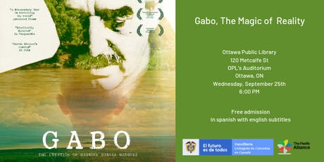 "Screening of ""Gabo, The Magic of Reality"" by the Embassy of Colombia tickets"
