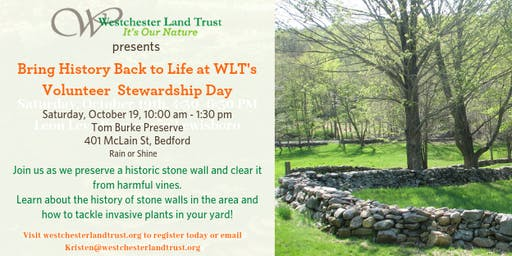 Bring History to Life @ WLT's Volunteer Stewardship Day