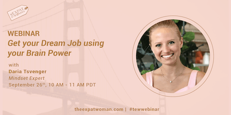 WEBINAR: Get your Dream Job using your Brain Power tickets