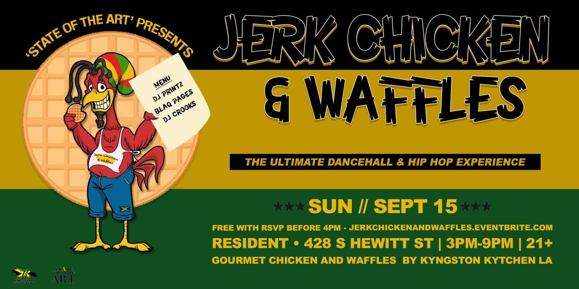 SOTA presents: Jerk Chicken and Waffles