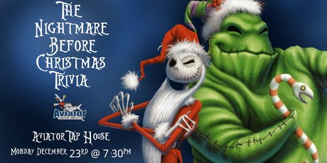 Nightmare Before Christmas Trivia at Aviator Tap House tickets