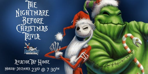 Nightmare Before Christmas Trivia at Aviator Tap House