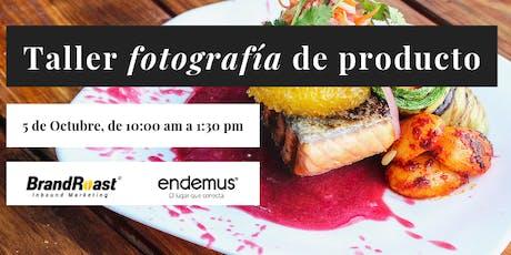 Taller: Fotografía de alimentos para restauranteros boletos