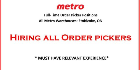OPEN HOUSE: Full-Time Order Pickers tickets