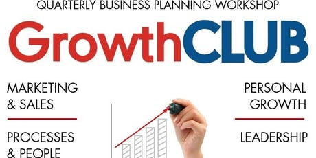 GrowthCLUB Quarterly Planning Workshop - Q4 2019 tickets